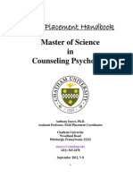 field placement handbook fall 2013