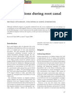 Complications During Root Canal Irrigation