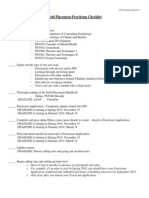 updated field placement checklist fall 2013