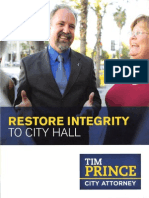 Tim Prince for City Attorney Flier Number 1 2013
