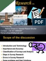 Survey Research-Advance Research Methodology