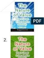 Potential book covers for The Nature of Value.  Pick your favorite 3.