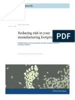 Reducing Risk in Your Manufacturing Footprint