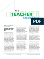 What Every Teacher Should Know