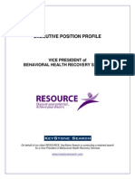Executive Position Profile-Vice President of Resource