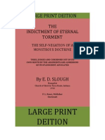 The Indictment Of Eternal Torment,The Self-Negation Of A Monstrous Doctrine, by  E.D.Slough