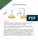 Pendolino Elettrostatico