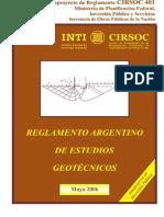 Cirsoc 401-Estudios Geotecnicos
