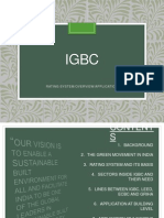 IGBC rating system overview application