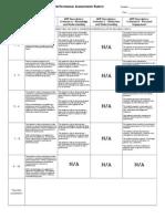 g9 myp assessment rubric performance
