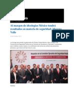 16-10-2013 Grupo Fórmula - Al margen de ideologías México tendrá resultados en materia de seguridad, Moreno Valle -