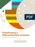 Transforming a High Performing Company