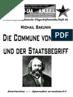 Bakunin, Michail - Die Commune Von Paris Und Der Staatsbegriff