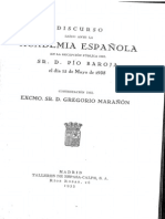 Discurso Ingreso Pio Baroja