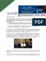 16-10-2013 Blog Rafael Moreno Valle - Se Garantiza La Igualdad de La Mujer en Propuestas Electorales de Los Partidos Al Congreso
