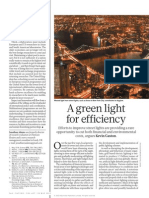 A Green Light for Efficiency