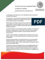 17-10-13 HISTORIA DE LA LUCHA POR LA IGUALDAD POLÍTICA.
