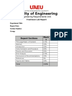 Report Cover Page and Format