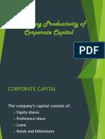 Managing Procgdfductivity of Corporate Capital - Samreen