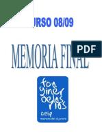 Memoria Final 08-09