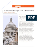 U.S. Government Funding and Debt Authorization Deal