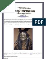 Why American Indians Keep Their Hair Long Hair is