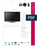 LG 50PQ30 Plasma TV Specifications