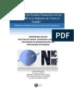 Efectos NIC y NIIF en Los Estados Financieros de La Venta Al Detalle