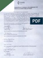 ACUERDO DE ADHESION AL CODIGO COLOMBIANO DE AUTORREGULACION PUBLICITARIA