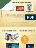 Calidad de Servicio e Banca Por Internet