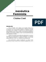 Hermeneutica Feminista (Cristina Conti)