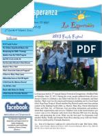 La Esperanza - 3rd Quarter 2013 Newsletter