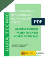 GUÍA TÉCNICA AGENTES QUÍMICOS LUGARES DE TRABAJO 2ª Edición