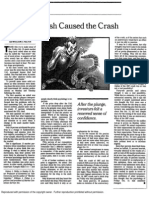 Shiller - Fear of the Crash Caused the Crash