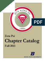 BAP Fall 2013 Chapter Catalog