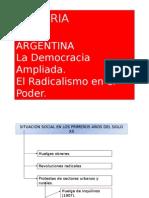 """""""La Democracia Ampliada (1916-1930)"""