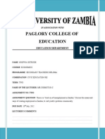 Unemployment in Zambia