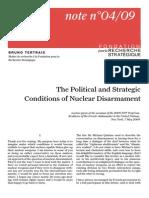 Bruno Tertrais ; The Political an Strategic