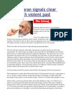 Wigneswaran Signals Clear Break With Violent Past