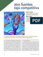 Las Cuatro Fuentes de Ventaja Competitiva
