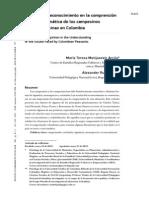 Teorías del reconocimiento en la comprensión de la problemantica de los campesinos en Colombia. 2012