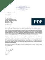 Letter to Juan Torrealba