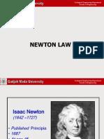 Kuliah 4 Hukum Newton I