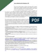 Ficha Especialización en Lectura y didáctica de la Literatura y TIC_castellano