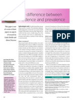 Prevalence & Incidence