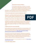 CONCURSOS PUBLICO -Dicas para Facilitar a Aprovação em Concursos Públicos