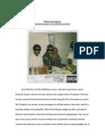 Rhetorical Analysis of Good Kid M.A.A.D City