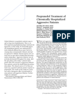 propranolol treatment of chonically hospitalized aggressive patienst by silver et al