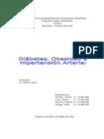 diabetes, obesidad,  hipertensión arterial