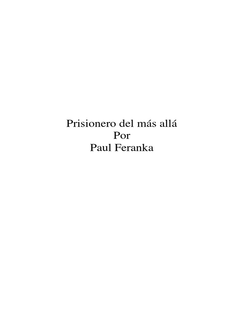 Prisionero Del Mas Alla